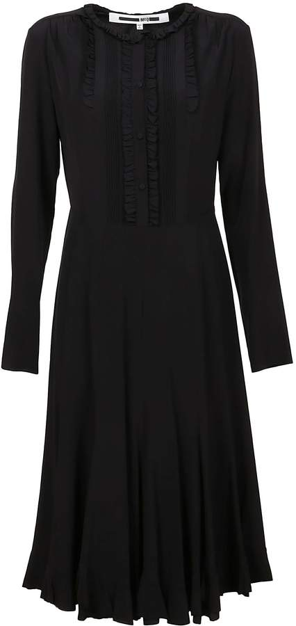 McQ Black Silk Dress
