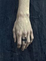 Oxidized Silver Blade Ring