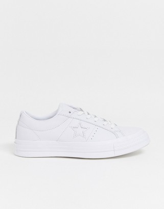 Converse One Star white leather trainers