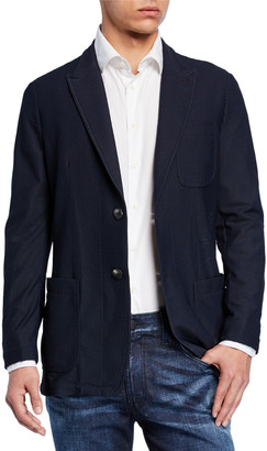 Giorgio Armani Men's Textured Mesh Two-Button Jacket