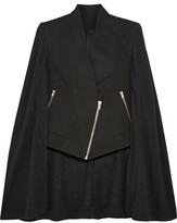 Gareth Pugh Asymmetric Cotton And Silk-Blend Crepe De Chine Cape