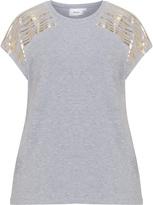 Zizzi Plus Size Gold print jersey t-shirt