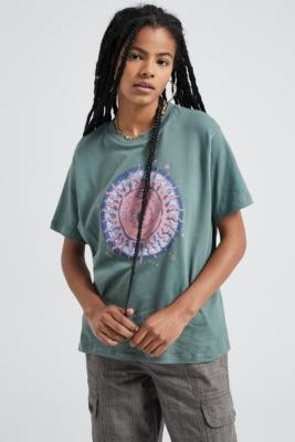 Urban Outfitters Celestial Sun Washed Sage T-Shirt - green XS at