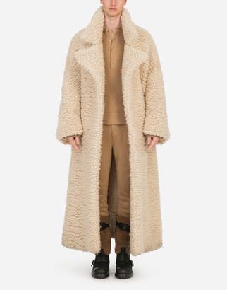 Dolce & Gabbana Single-Breasted Shearling Coat