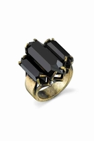 Low Luv x Erin Wasson by Erin Wasson Triple Crystal Cocktail Ring in Black/Gold