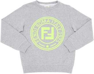 Fendi Logo Printed Cotton Sweatshirt