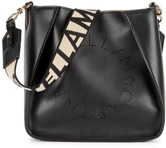 Stella McCartney Stella Logo Mini Black Cross-body Bag