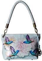 Anuschka Medium Shoulder Bag 634 (Rainbow Birds) Handbags