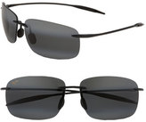 Maui Jim Men's 'Breakwall - Polarizedplus2' 63Mm Sunglasses - Black Gloss