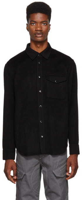 Rag & Bone Black Principle Shirt Jacket