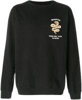 MHI snake embroidered sweatshirt