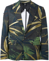 Christian Pellizzari printed canvas blazer - men - Cotton/Spandex/Elastane/Viscose - 48