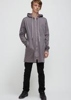 Rick Owens dark dust drawstring hoodie