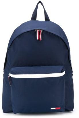 Tommy Hilfiger Zipped Pocket Logo Backpack