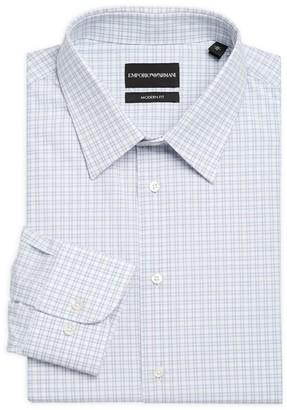 Emporio Armani Modern-Fit Check Dress Shirt