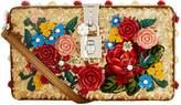 Dolce & Gabbana Floral Sequin Box Clutch, White