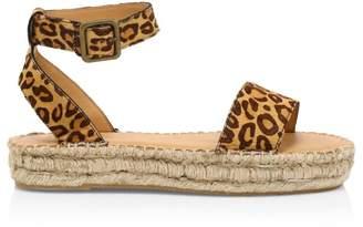 Soludos Cadiz Leopard-Print Faux Calf Hair Espadrille Sandals