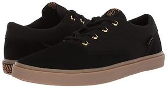 Volcom Draw Lo Suede Shoes (Black Out) Men's Shoes