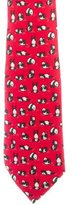 Hermes Animal Print Silk Tie