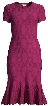 Shoshanna Preston Embroidered Flounce Dress