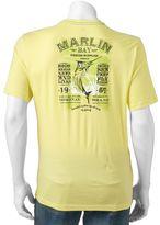 "Caribbean Joe Men's Back-Print ""Marlin Bay Fishing Supplies"" Tee"