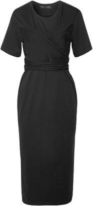 Proenza Schouler Wrap-effect Cotton-jersey Midi Dress