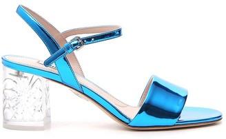 Miu Miu Metallic Heeled Sandals