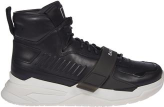 Balmain Logo Strap High Top Sneakers