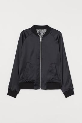 H&M Reversible Bomber Jacket - Black