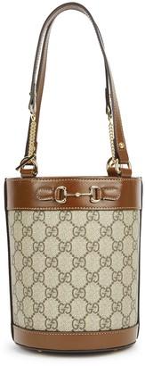 Gucci 1955 Horsebit Monogrammed Bucket Bag