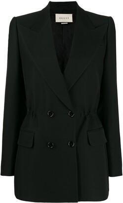 Gucci elastic waist detail blazer