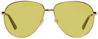 Gucci Gold Aviator Sunglasses