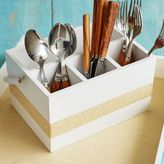 Sur La Table Wood and Grass Utensil Caddy