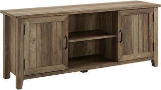 Hewson 58In Farmhouse Wood Grooved Door Media Console