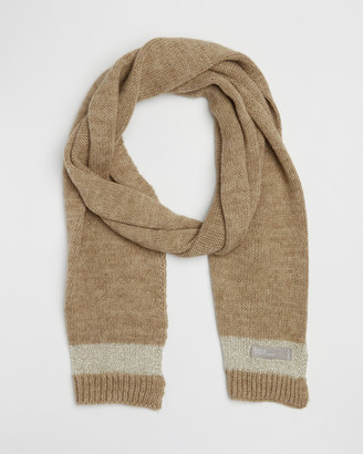 Kate & Confusion - Women's Neutrals Scarves - Lurex Trim Scarf - Size One Size at The Iconic