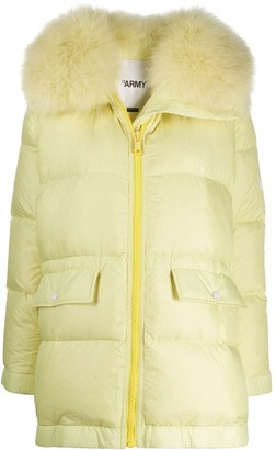 Yves Salomon Quilted Puffer Coat