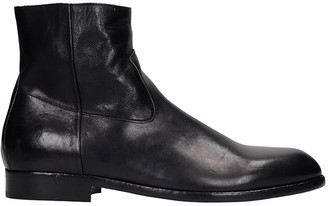 Buttero Ankle Boots In Black Leather
