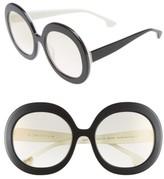 Alice + Olivia Women's Melrose 56Mm Round Sunglasses - Black/ White