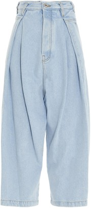 Loewe High-Waisted Cropped Oversize Jeans