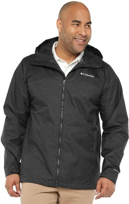 Columbia Big & Tall Ridge Gates Omni-Tech Waterproof Hooded Rain Jacket