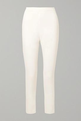 Brandon Maxwell Crepe Slim-leg Pants - Ivory