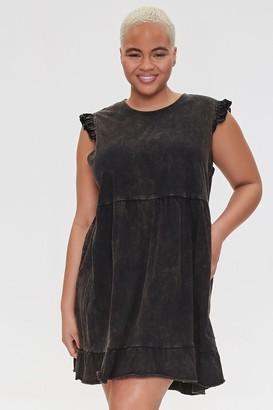 Forever 21 Plus Size Oil Wash T-Shirt Dress