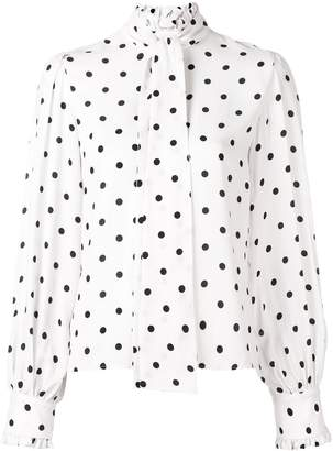 VIVETTA polka-dot long sleeve blouse