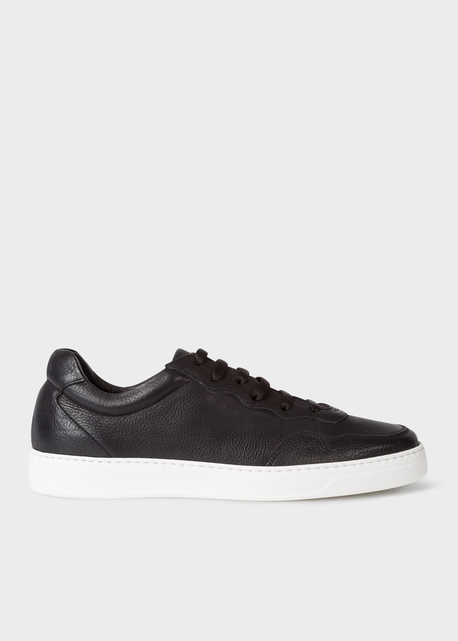 Paul Smith Men's Black Leather 'Theo' Sneakers