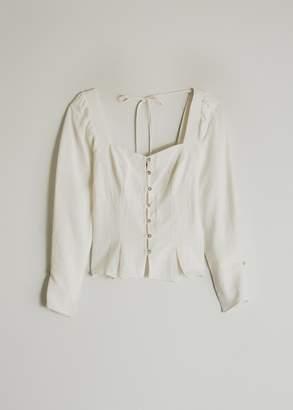 Farrow Women's Alexandra Button Up Top in Cream, Size Small