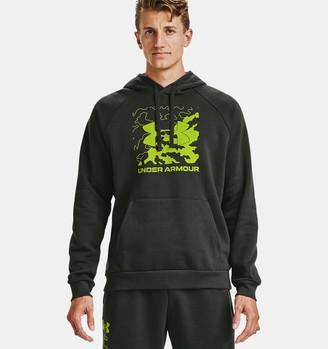 Under Armour Men's UA Rival Fleece Box Logo Hoodie