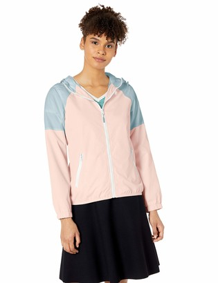 U.S. Polo Assn. Women's Color Block Windbreaker with Hood