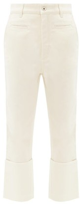 Loewe Fisherman Turn-up Cropped-leg Jeans - Ivory
