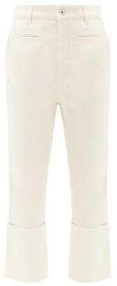 Loewe Fisherman Turn-up Jeans - Ivory