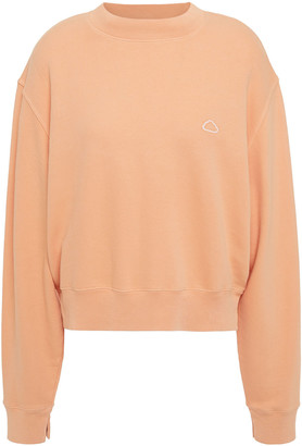 Frame Embroidered Organic French Pima Cotton-terry Sweatshirt